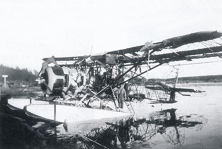 Remains of plane flown by Jim Barber.