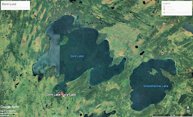 Map of the Dore Lake area.