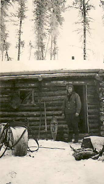 Fred at his cabin