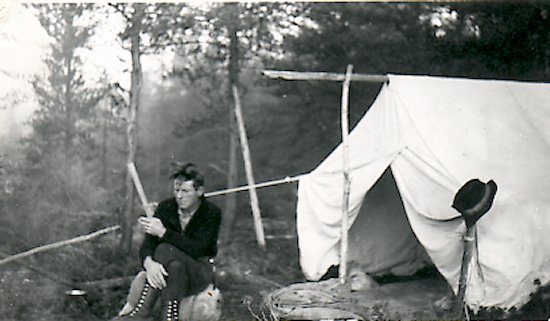 Fred relaxing in camp