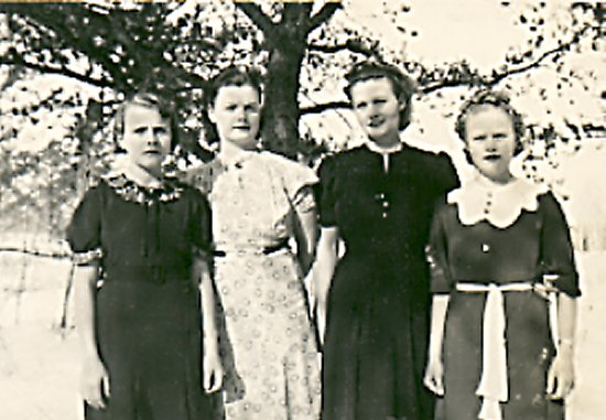 Egeland Sisters (left to right) Joyce, Audrey, Martha, Mary.