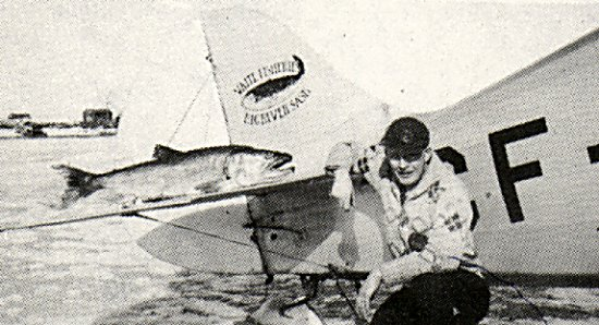 George Greening and one of Northern Airlines planes - 1946.