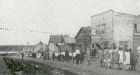 1926 - July 1st Parade on Main Street, Big River.