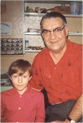 Tom Scurfield, with his grand-nephew Sergei Scurfield, Circa 1970.