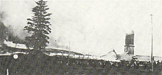 Big River Lumber Company Destroyed by Fire, June 11, 1913 at 6 AM