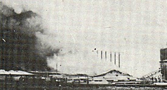 Big River Lumber Company Destroyed by Fire, June 11, 1913 at 6 AM.