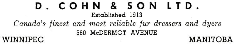 Cohn and Sons Ltd. Advertisment.
