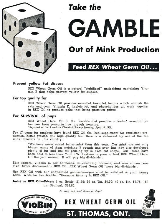 Rx Wheat Germ Oil Advertisment.