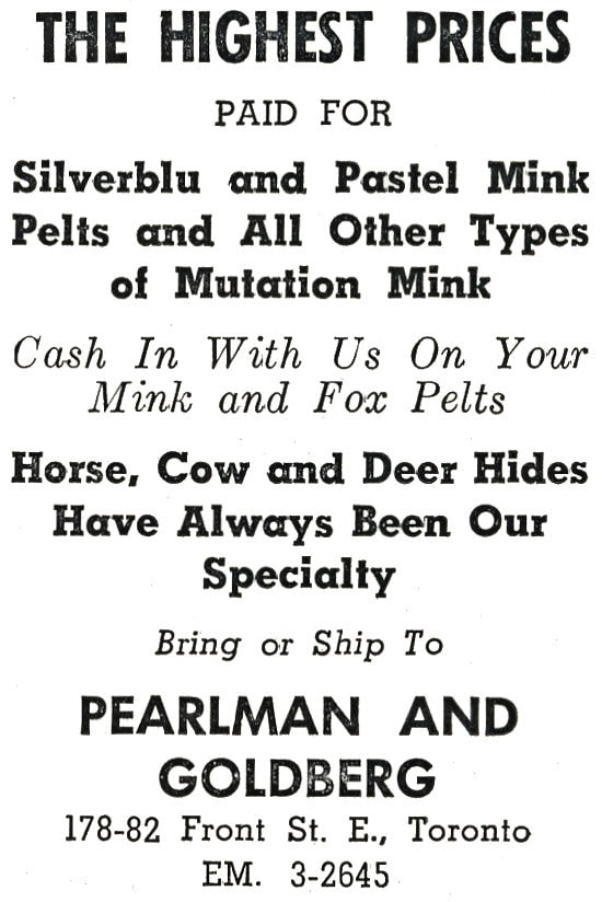 Pearlman and Goldberg Advertisment.
