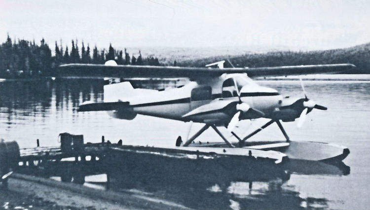 Gerry Loughlean flew this Dornier DO 28 for Hudson Bay Oil and Gas.