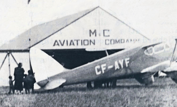 De Havilland Dragonfly CF-AYF.