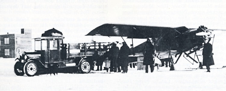 Fish from the north being unloaded from Brooks Airways' Buhl Airsedan.