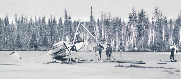 Barber's Cessna is winched out.