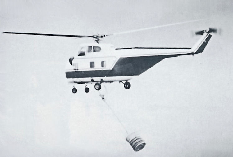 Helicopters like this Sikorsky S55T.